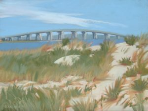 "Dunes at Ponquogue - Oil 12"" x 9"" $500"