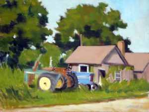 "Rural Vignette - Oil 12"" x 9"" $540"