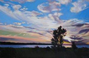 "September Sunset - Oil  30"" x 20""  $2,200"